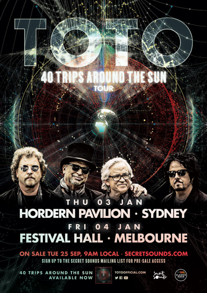 TOTO ANNOUNCE HEADLINE SHOWS IN AUSTRALIA – TOTO